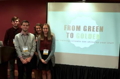 The founding members of MMG delivered a presentation to attendees at the National College Media Convention.