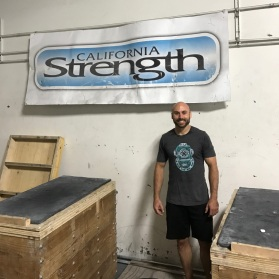 Christian at the California Strength gym.