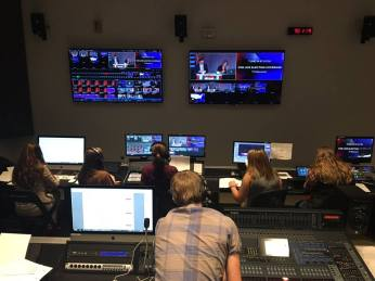 Bonacci (first row, center) was Technical Director during Marywood's 2016 Election Coverage production.