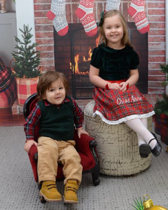Marisa's children, Anthony (age 1) and Chloe (age 4)