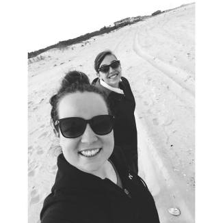Lindsey with her friend, Casey Brett.