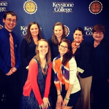 Ehrin at orientation when she first started working at Keystone College