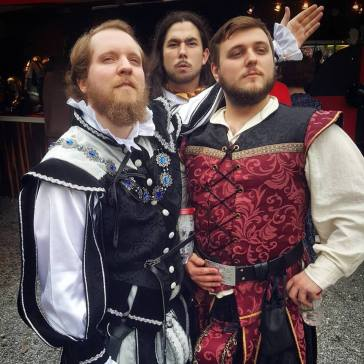 Bob and some friends dressed up at the Pennsylvania Renaissance Faire
