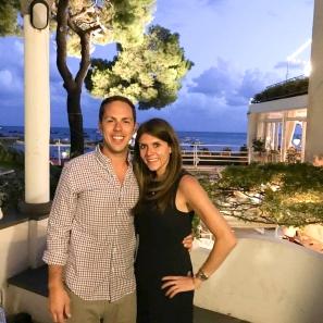 Arnold and Rachel on the Amalfi coast of Italy.